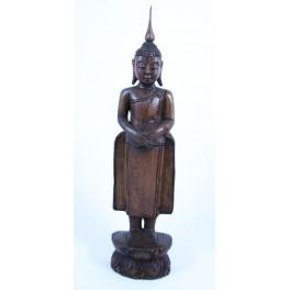 Statue de Bouddha Pang Thawai Net en Teck