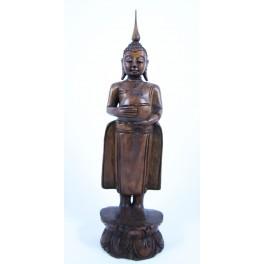 Statue de Bouddha Pang Umbat en Teck