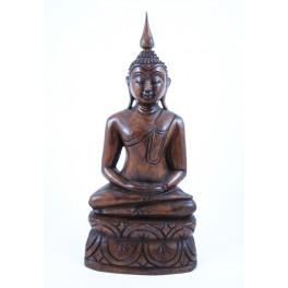 Statue de Bouddha Pang Samti en Teck - 32 X 15