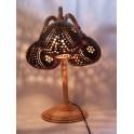 Lampe 3 globes en Noix de Coco