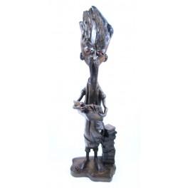 """Sculpture en teck - 47 cm - """"MZ-004"""""""