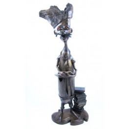 """Sculpture en teck - 45 cm - """"MZ-007"""""""