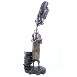 """Sculpture en teck - 48 cm - """"MZ-009"""""""