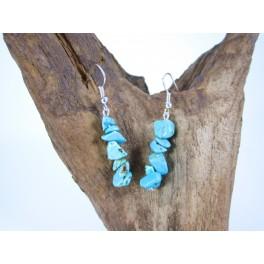 Boucles d'oreilles en pierre Turquoise