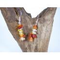 Boucles d'oreilles en Pierre Orange