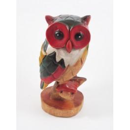 Chouette Sculpté en bois de suar 23x10