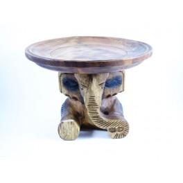 Plateau éléphant  sculpté en bois de Suar