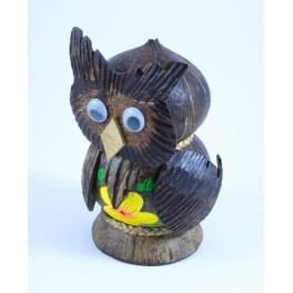 Tirelire Hiboux en noix de coco