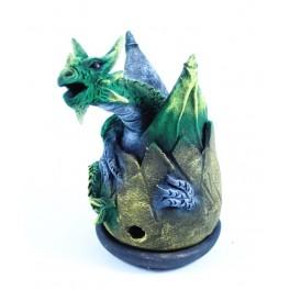 Cône Brûle Encens Oeuf de Dragon Volant Vert