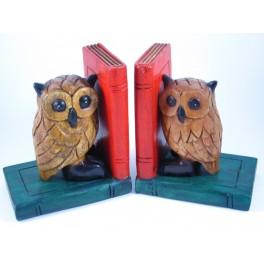 Serre-Livres Chouette en bois de suar