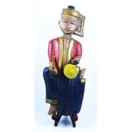 """Musicien Thai en Bois de Suar - """"MT001"""""""