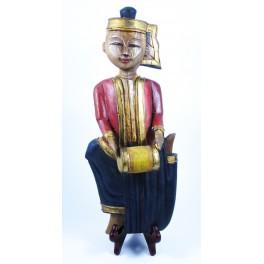 """Musicien Thai en Bois de Suar - """"MT002"""""""