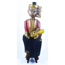 """Musicien Thai en Bois de Suar - """"MT003"""""""