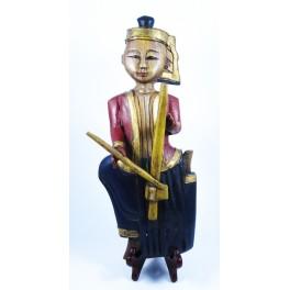 """Musicien Thai en Bois de Suar - """"MT004"""""""
