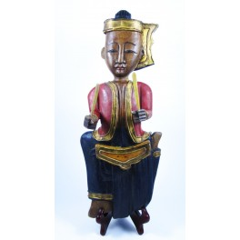 """Musicien Thai en Bois de Suar - """"MT005"""""""
