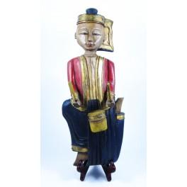 """Musicien Thai en Bois de Suar - """"MT006"""""""