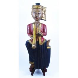 """Musicien Thai en Bois de Suar - """"MT007"""""""
