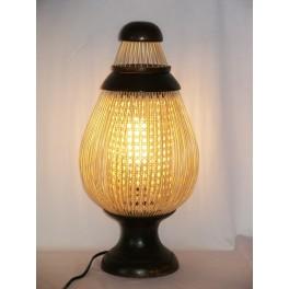 Lampe en teck et Bambou