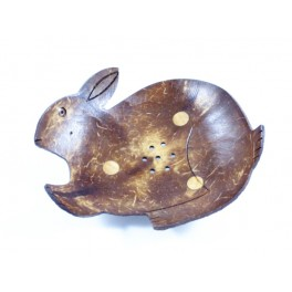 Porte-savon Lapin en noix de coco