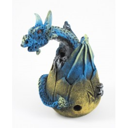 Cône Brûle Encens Oeuf de Dragon Volant Bleu