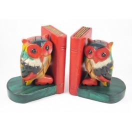 Serre-Livres Chouette en bois de suar - HB015