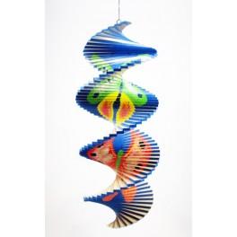 Spirale à vent en bois Papillon - 40x16