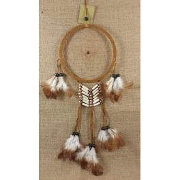 Attrape Rêve Apache marron 50 cm Ø 16,5 cm