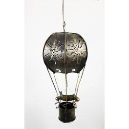 Photophore Montgolfiére bronze et noir en metal