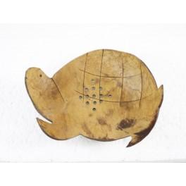 Porte-savon Tortue en noix de coco