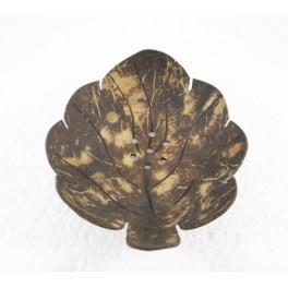 Porte-savon Feuille n°3 en noix de coco