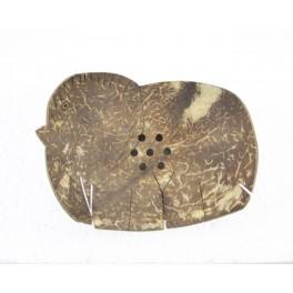 Porte-savon Eléphant n°2 en noix de coco
