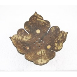 Porte-savon Fleur en noix de coco