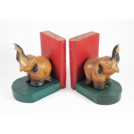 Serre-Livres Eléphant en bois de suar - EL048