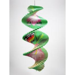 Spirale à vent en bois Papillon et Fleur - 40x16