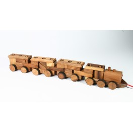 Train de contruction en bois