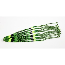 Lot de 10 Bracelets de l'amitié en coton - Vert, Fluo et Noir - Bracelet brésilien