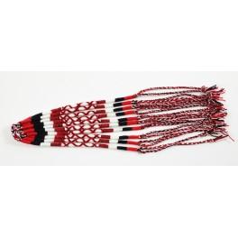 Lot de 10 Bracelets de l'amitié en coton - Rouge, Noir, Blanc - Bracelet brésilien