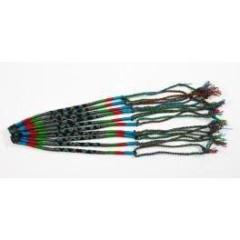 Lot de 10 Bracelets de l'amitié en coton - Bleu, Marron, Vert, Noir - Bracelet brésilien