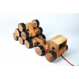 Camion 16 roues en bois