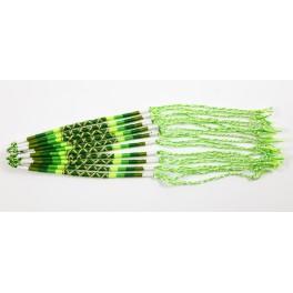 Lot de 10 Bracelets de l'amitié en coton - Blanc, Vert et Fluo - Bracelet brésilien