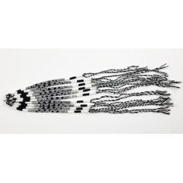 Lot de 10 Bracelets de l'amitié en coton - Blanc et Noir- Bracelet brésilien
