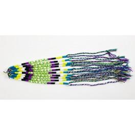 Lot de 10 Bracelets de l'amitié en coton -Bleu, Jaune, Violet- Bracelet brésilien