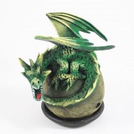 Cône Brûle Encens Dragon Volant Couché Vert