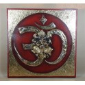 Tableau Ganesh Rouge/Nor et Or - 60x60 - TB026