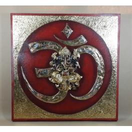 Tableau Ganesh Rouge/Noir et Or - 60x60 - TB026
