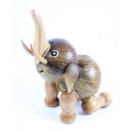 Tirelire Eléphant assis en noix de coco