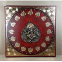 Tableau Ganesh Rouge/Nor et Or - 60x60 - TB030