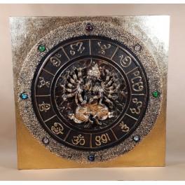 Tableau Ganesh Noir et Or - 60x60 - TB031