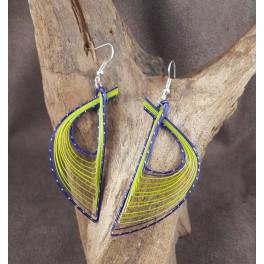 Boucles d'oreilles en Bambou (050)