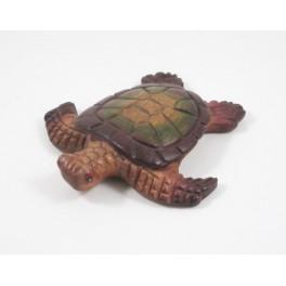 Tortue de mer sculpté en bois de Suar 14x13